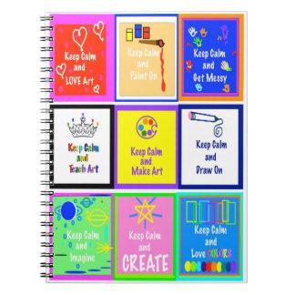 Keep Calm - Make Art  Notebook  v2