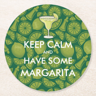 Keep Calm - Margarita Round Paper Coaster