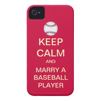 KEEP CALM Marry A Baseball Player iPhone 4/4S Case