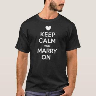 Keep Calm Marry On Men's T-Shirt