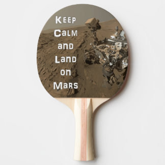 Keep Calm Mars Rover Ping Pong Paddle