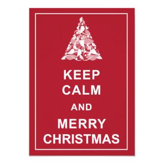Keep Calm Merry Christmas Holiday Greetings Card 13 Cm X 18 Cm Invitation Card