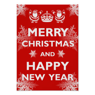 Keep Calm Merry Christmas Posters