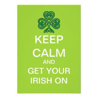 KEEP CALM Mod St. Patrick's Day Party Invitation