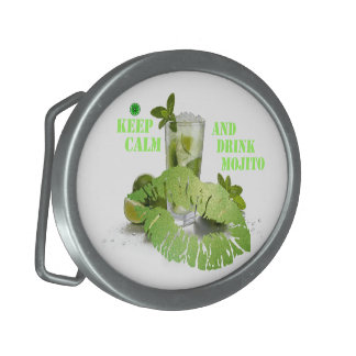 Keep Calm Mojito Belt Buckle
