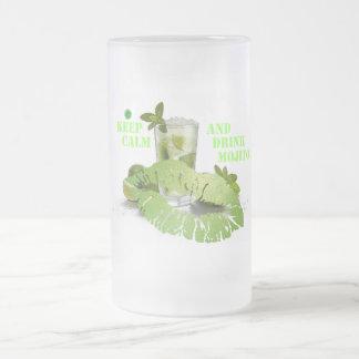 Keep Calm Mojito Frosted Glass Beer Mug