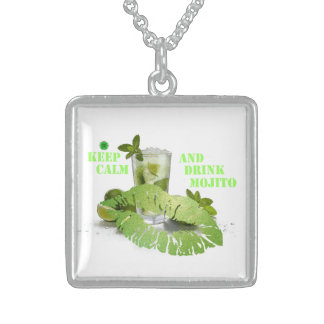 Keep Calm Mojito Sterling Silver Necklace