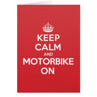 Keep Calm Motorbike Greeting Note Card