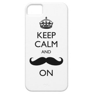 Keep Calm Mustache On iPhone 5 Case-Mate Barely iPhone 5 Case