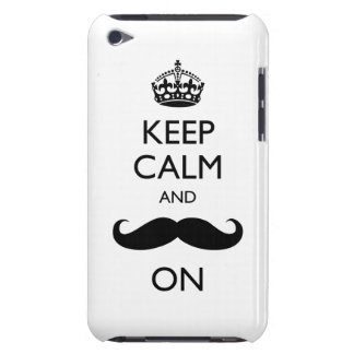 Keep Calm Mustache On iPod Touch Case-Mate Barely