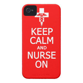 Keep Calm & Nurse On iPhone 4 Case-Mate