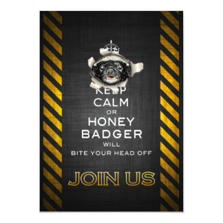 Keep Calm, or Honey Badger… 13 Cm X 18 Cm Invitation Card