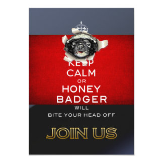 Keep Calm, or Honey Badger… 13 Cm X 18 Cm Invitation Card