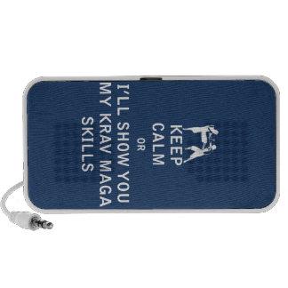 Keep Calm or i'll Show You My Krav Maga Skills iPod Speaker