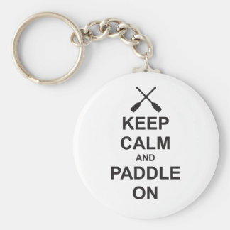 Keep Calm & Paddle On Key Ring