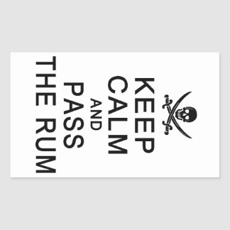 Keep Calm & Pass The Rum stickers