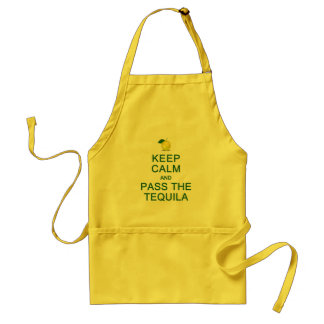 Keep Calm & Pass The Tequila apron - choose style