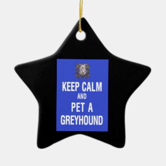 Keep Calm Pet Greyhound Ornament