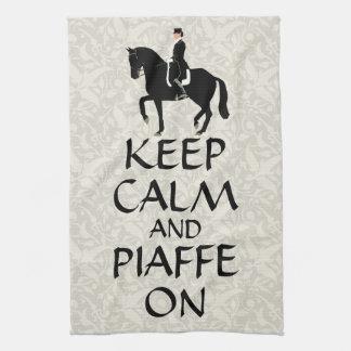 Keep Calm & Piaffe On Dressage Tea Towel