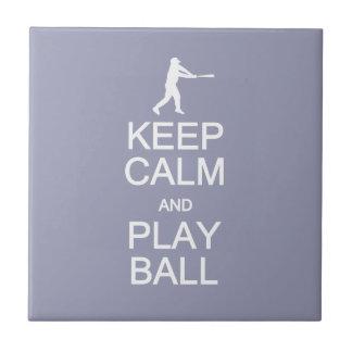 Keep Calm & Play Ball custom color ceramic tiles