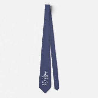 Keep Calm & Play Ball custom color tie