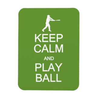 Keep Calm & Play Ball custom magnet