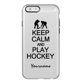 Keep Calm & Play Hockey custom cases Incipio Feather® Shine iPhone 6 Case