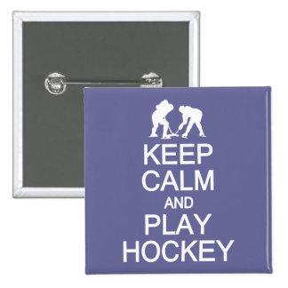 Keep Calm Play Hockey custom color button