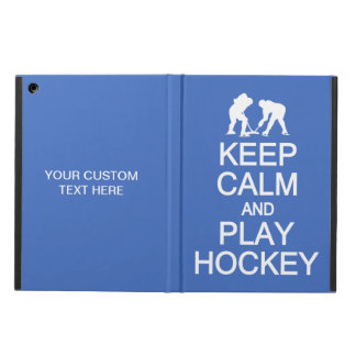 Keep Calm & Play Hockey custom color cases
