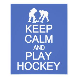Keep Calm & Play Hockey custom color flyers