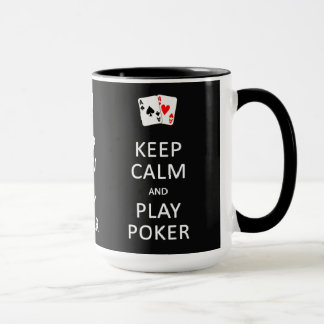 KEEP CALM & PLAY POKER custom mugs