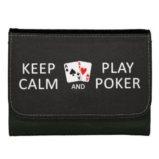 KEEP CALM & PLAY POKER custom wallets
