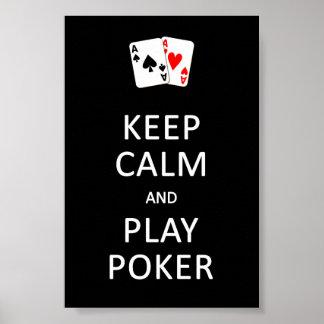 KEEP CALM & PLAY POKER poster