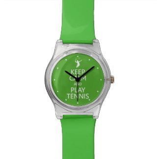 Keep Calm & Play Tennis custom color watches