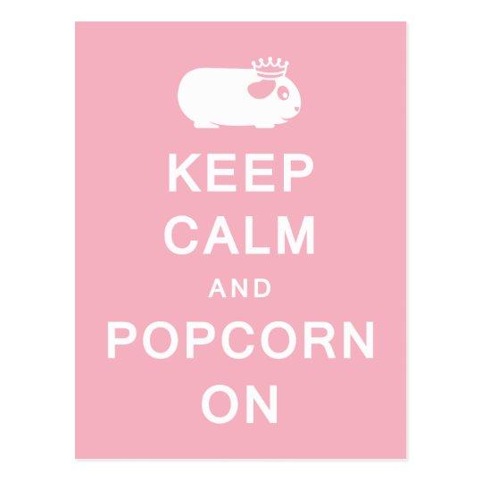 Keep Calm & Popcorn On Postcard