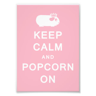 Keep Calm & Popcorn On Print (Frames Available!)