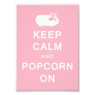 Keep Calm & Popcorn On Print (Frames Available!) Photo