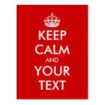 Keep calm postcard template   Customisable design