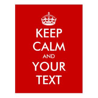 Keep calm postcard template | Customisable design