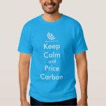 Keep Calm & Price Carbon Tee Shirt (Blue)