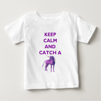 Keep Calm, Purple Unicorn Baby Fine Jersey T-Shirt