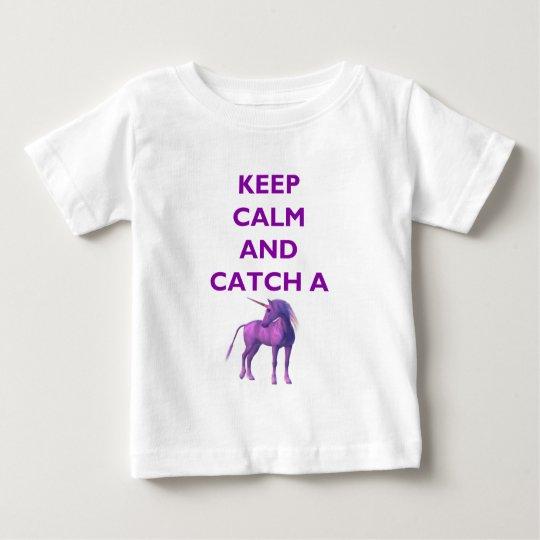 Keep Calm, Purple Unicorn Baby Fine Jersey T-Shirt