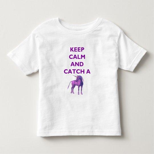 Keep Calm, Purple Unicorn Toddler Fine Jersey Tee