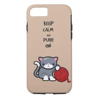 Keep calm, purr on iPhone 7 case