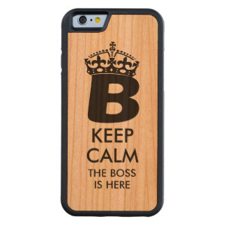 Keep Calm Queen B Carved Cherry iPhone 6 Bumper Case