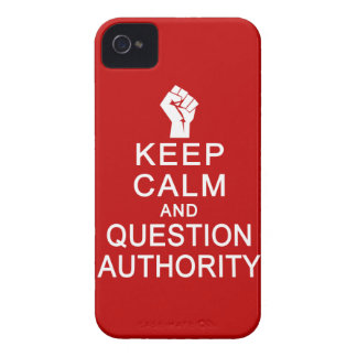 Keep Calm & Question Authority Blackberry Bold cas iPhone 4 Covers