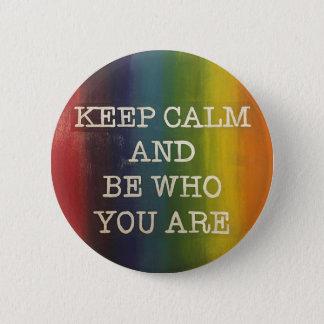 Keep Calm Rainbow Pride 6 Cm Round Badge