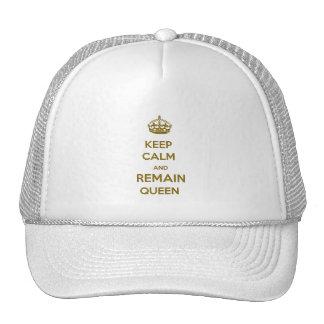 Keep Calm Remain Queen Style 1 Trucker Hats