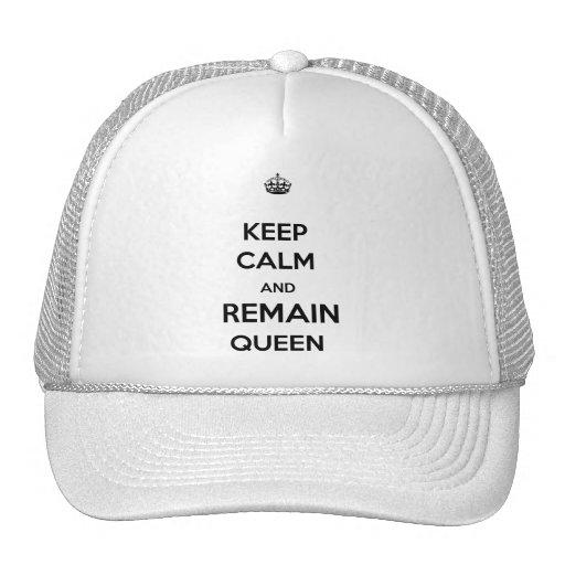 Keep Calm Remain Queen Style 2 Trucker Hats