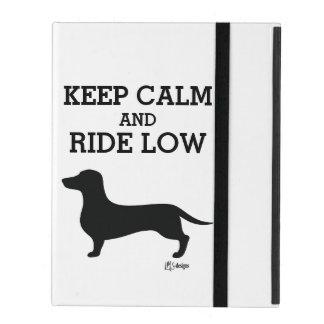 Keep Calm Ride Low Daschund iPad Folio Case